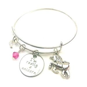 Jewelry - Unicorn bracelet silver fashion jewelry bangle